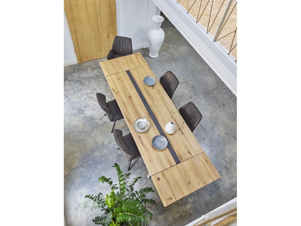 table de ferme 180 2 allonges de 38 canova. Black Bedroom Furniture Sets. Home Design Ideas