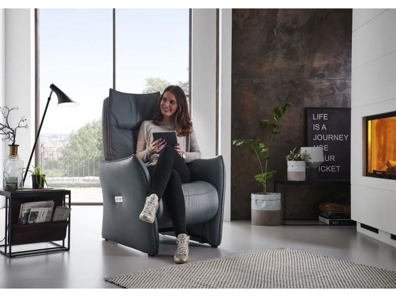 Chaise assise skai couleur Taupe Oceane Atelier de Langres