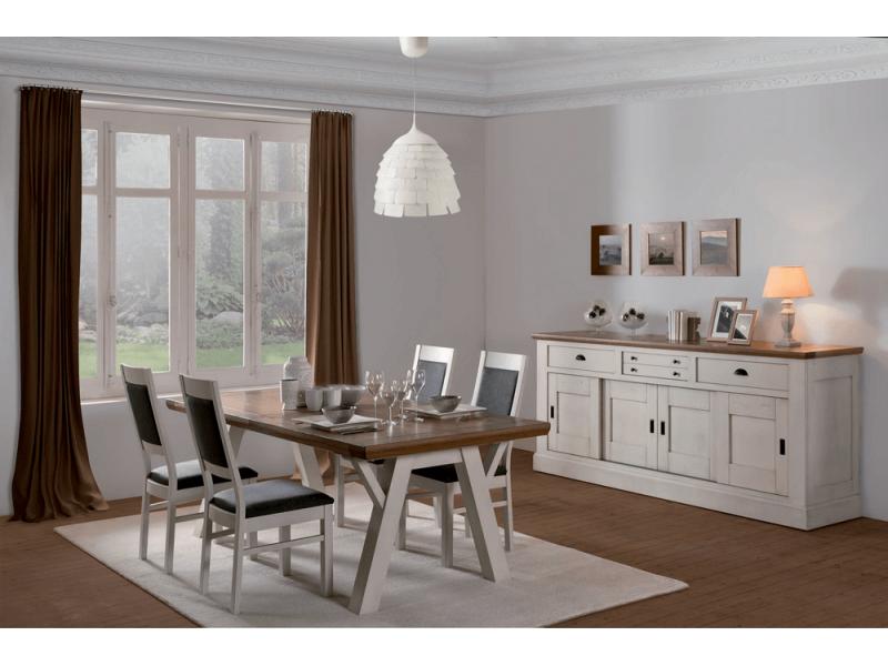 Table rectangulaire  Longueur 220 pieds V – NOGENT Atelier de Langres