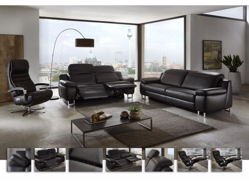 Canapé avec relaxation manuel ou électrique