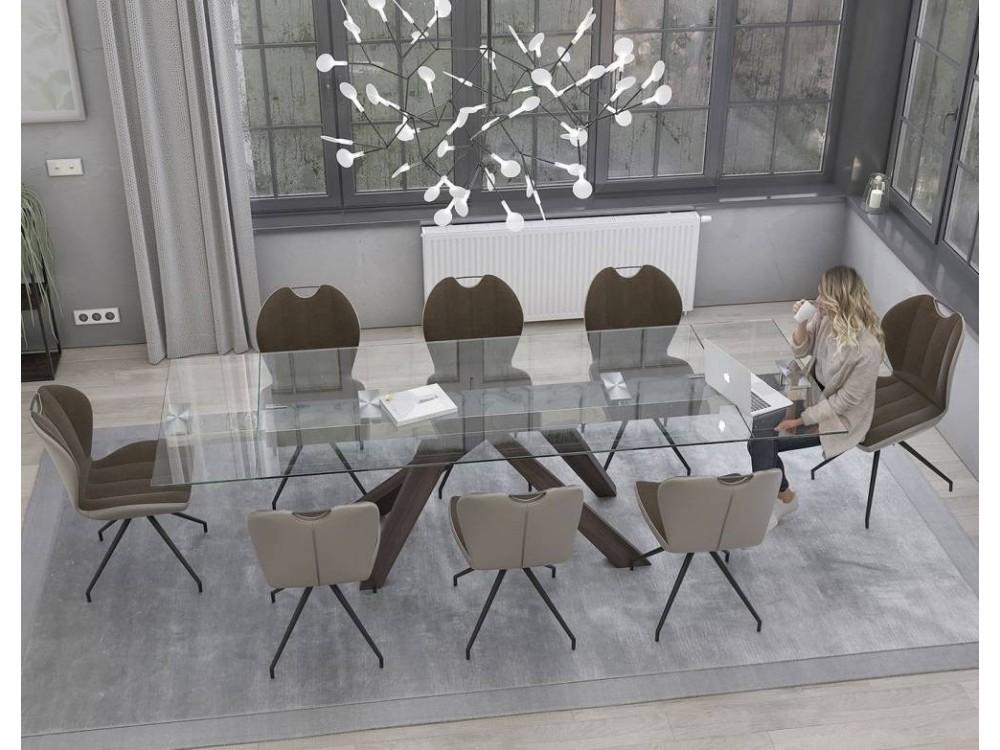 Table tonneau 180 x 105 plateau c ramique ceram atelier for Plateau table 180