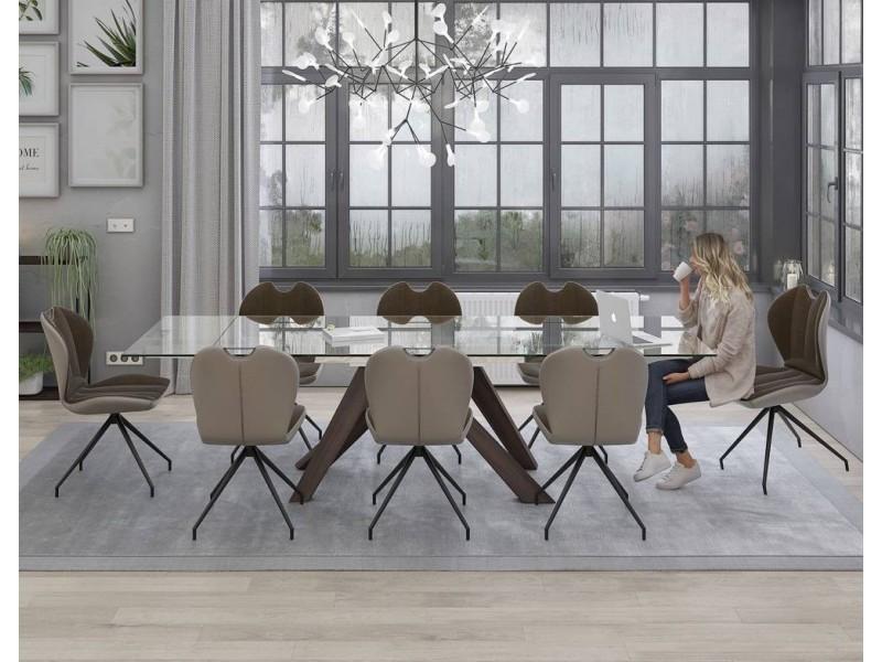Table tonneau 180 x 105 plateau bois