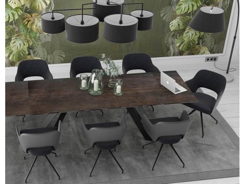 chaise assise et dossier skai couleur ivoire ceram. Black Bedroom Furniture Sets. Home Design Ideas