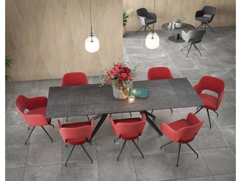Table basse carrée 2 tiroirs 90 x 90