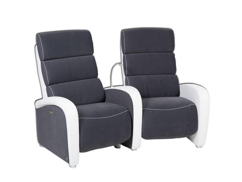 Ensemble canap 2 places mobiles lectrique meuble multim dia fauteuil re - Fauteuil relax 2 places ...
