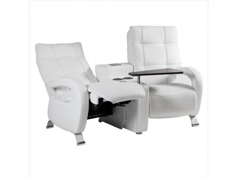 Chaise assise et dossier Skai Gris Foncé – Ellipse Atelier de Langres