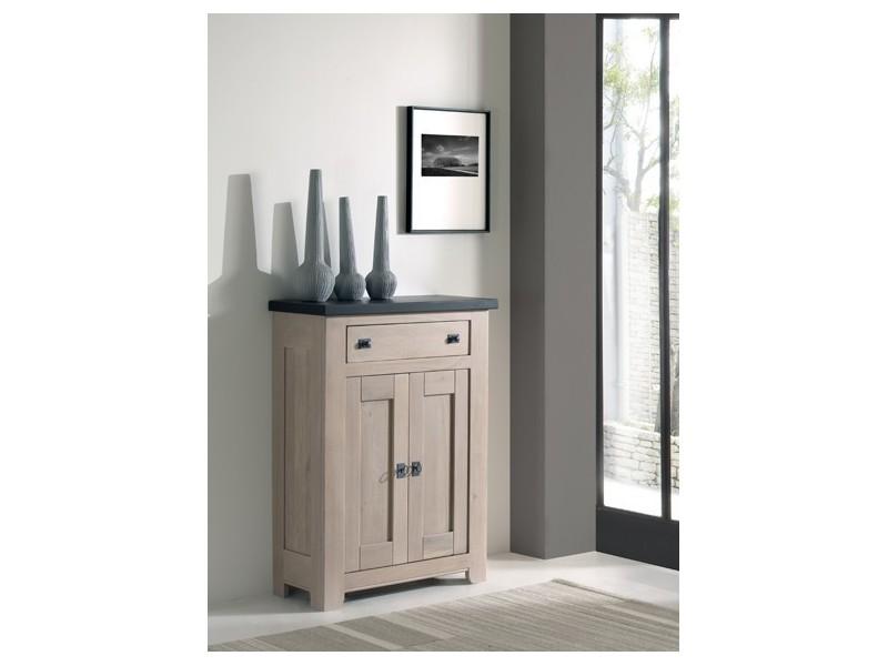 Bahut 2 portes coulissantes 3 tiroirs - ROMANCE Atelier de Langres