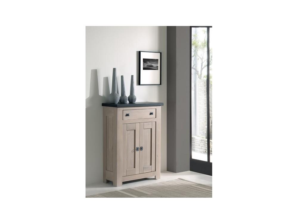 Bahut 2 portes coulissantes 3 tiroirs romance atelier de for Meuble salle a manger 3 portes