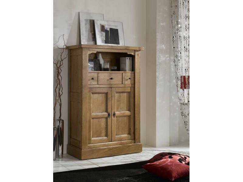 Meuble d'entrée 2 portes coulissantes 1 tiroir – ROMANCE Atelier de Langres