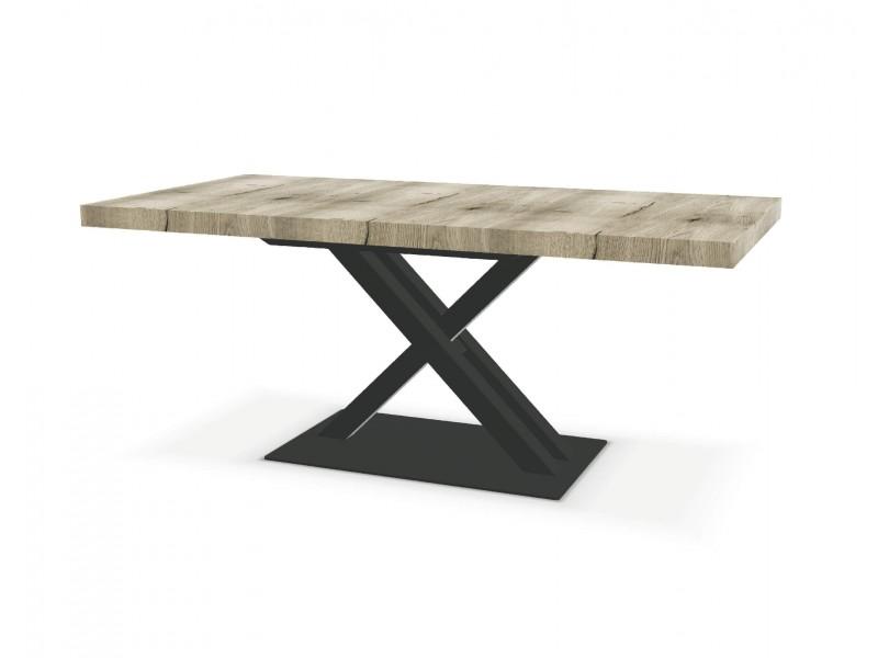 Chaise 5 barrettes, pieds droits assise Tissu gris foncé WHITNEY - Atelier de Langres