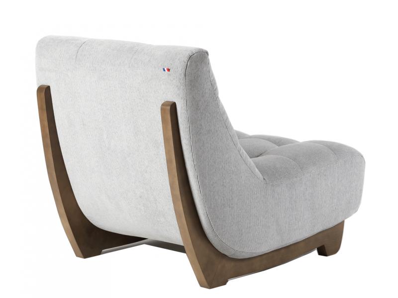Chaise chêne assise grise – BORA