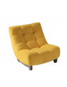 Chaise assise textile enduit Gris BORA